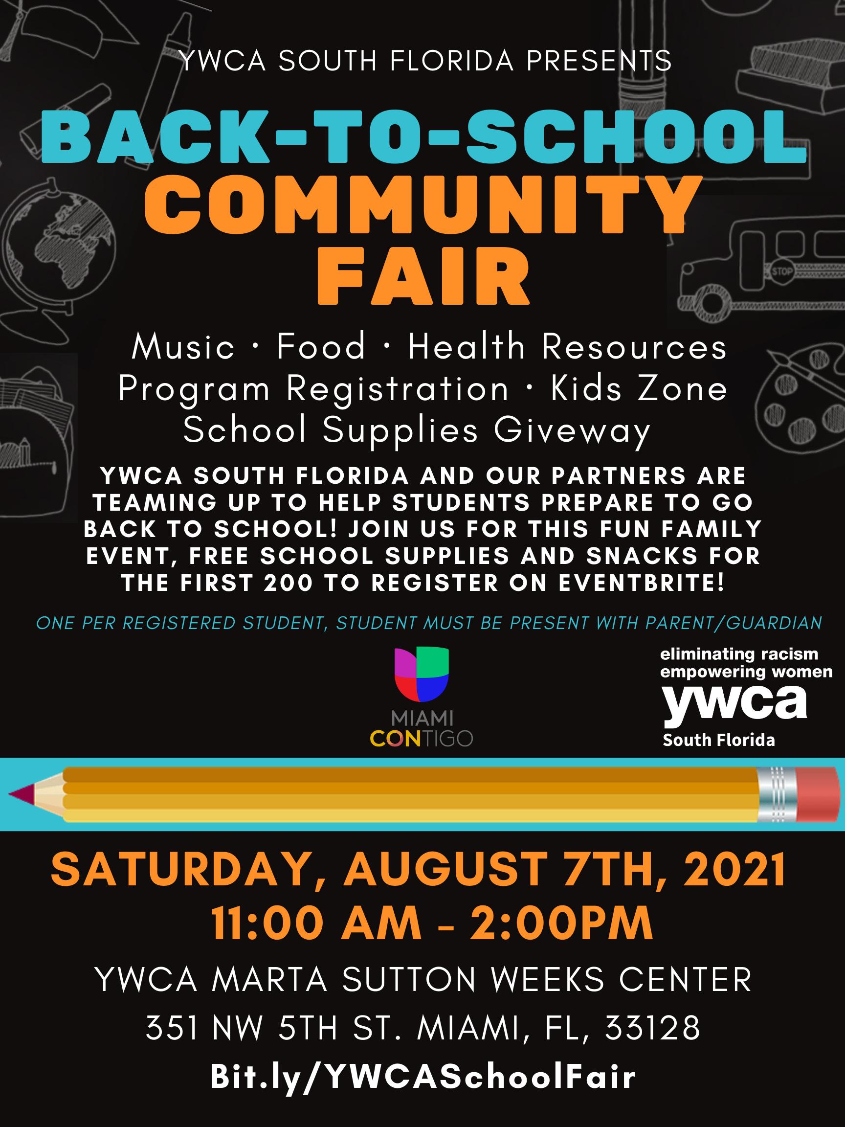 Back-to-School Community Fair @ YWCA South Florida