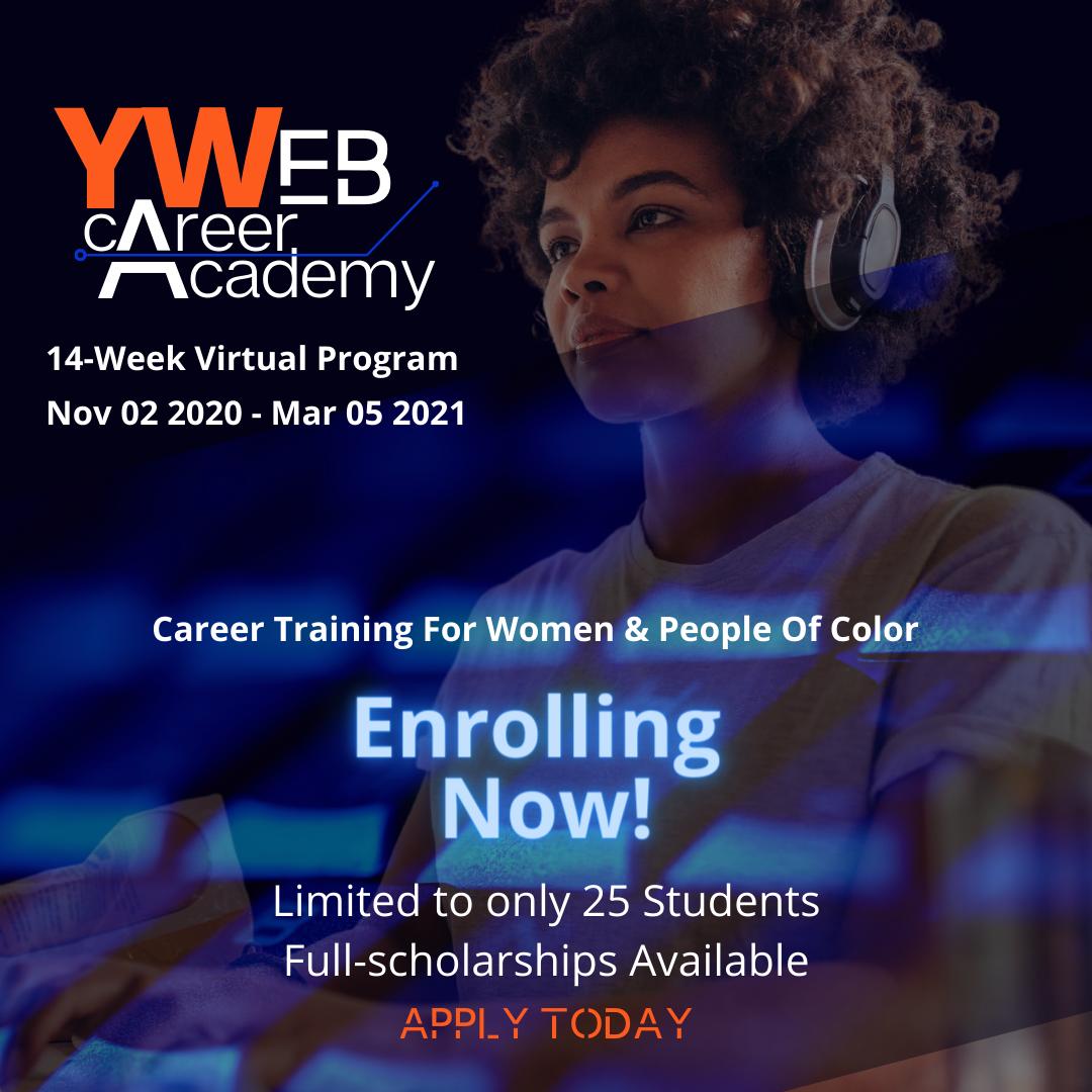 YWeb Academy Virtual Web Designer Course | Starts November 2, 2020
