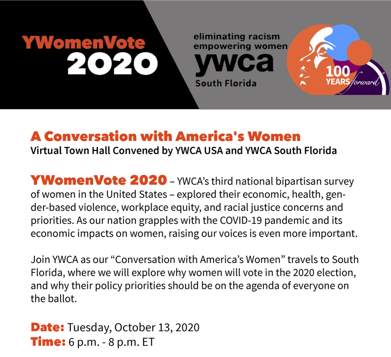 YWomen Vote | A Virtual Town Hall